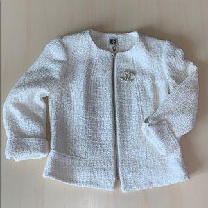 NWOT Anne Klein Tweed Zip-Front Jacket